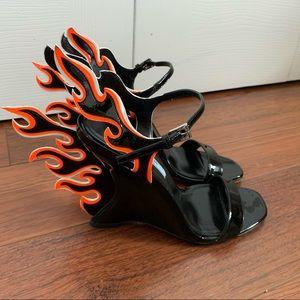 Prada Flame Strap Heel